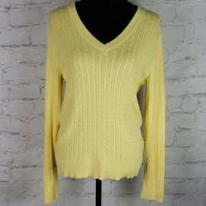 Tommy Hilfiger yellow cable knit sweater size XL
